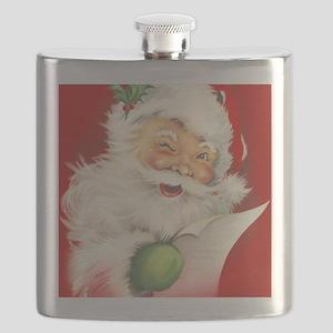 Santa Vintage Flask