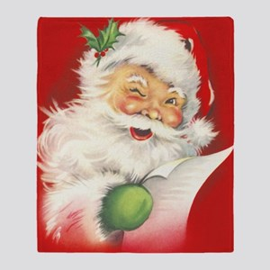 Santa Vintage Throw Blanket