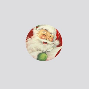 Santa Vintage Mini Button