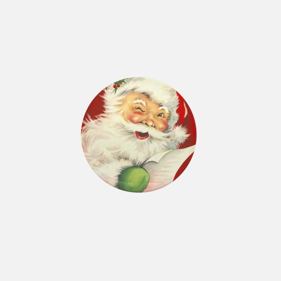 Santa Vintage Mini Button