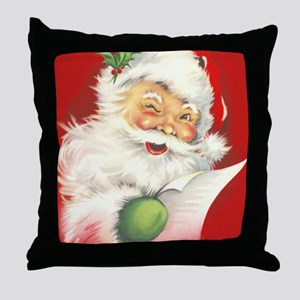 Santa Vintage Throw Pillow