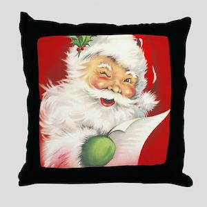 Santa Vintage Throw Pillow