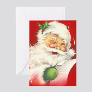 Santa Vintage Greeting Card