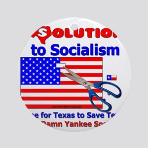 Solution to Socialism Round Ornament