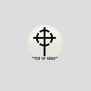 center of gravity cross Mini Button