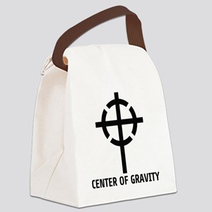 center of gravity cross Canvas Lunch Bag