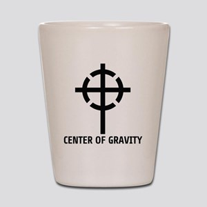center of gravity cross Shot Glass