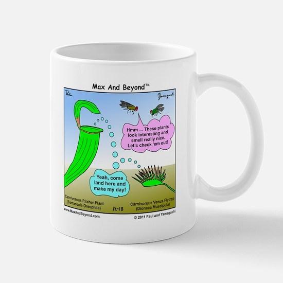 Venus Flytrap and Pitcher Plant Cartoon Mug