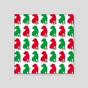 "Shar Pei Christmas or Holid Square Sticker 3"" x 3"""