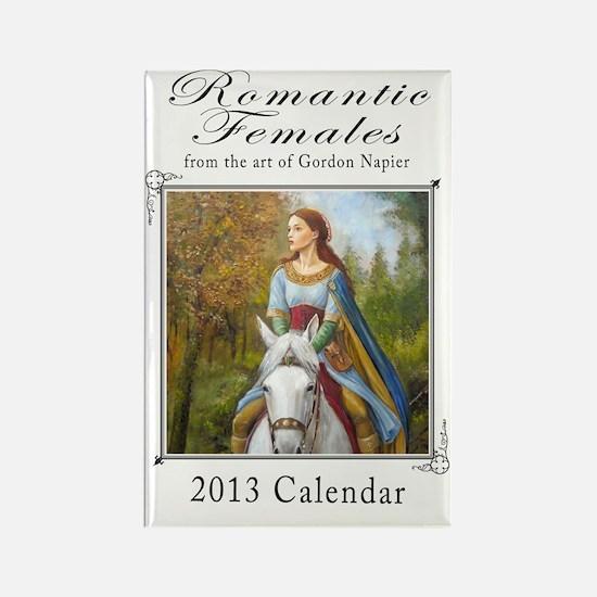 romantic females 2013 calendar co Rectangle Magnet