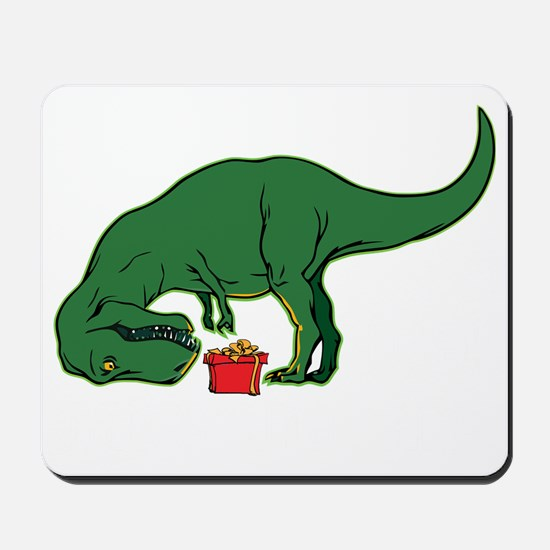 T-rex hates presents Mousepad