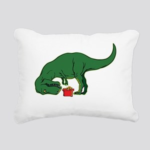 T-rex hates presents Rectangular Canvas Pillow