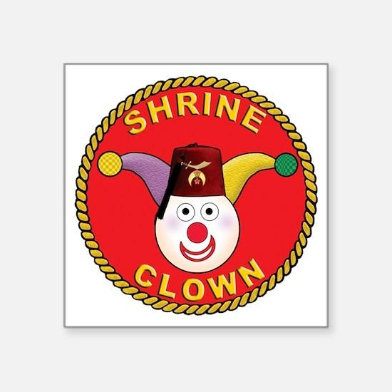 "Shrine Clown Square Sticker 3"" x 3"""