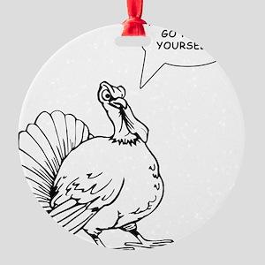 Turkey Christmas Round Ornament