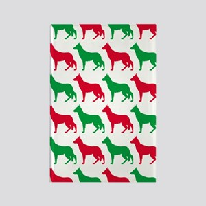 German Shepard Christmas or Holid Rectangle Magnet