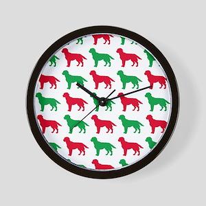 Labrador Retriever Christmas or Holiday Wall Clock
