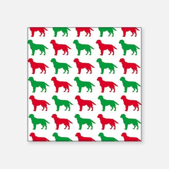 """Labrador Retriever Christma Square Sticker 3"""" x 3"""""""