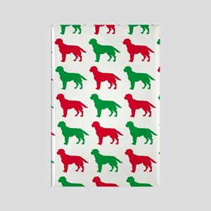 Labrador Retriever Christmas or H Rectangle Magnet