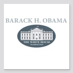 """2013 inauguration day a( Square Car Magnet 3"""" x 3"""""""
