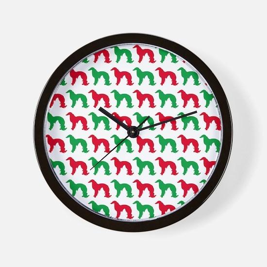 Irish Setter Christmas or Holiday Silho Wall Clock