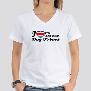 Costa Rican boy friend Women's V-Neck T-Shirt