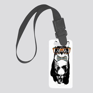 Hipster Cat Small Luggage Tag
