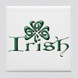 Irish: Celtic Shamrock' Tile Coaster