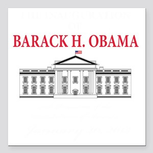 """2013 inauguration day b( Square Car Magnet 3"""" x 3"""""""