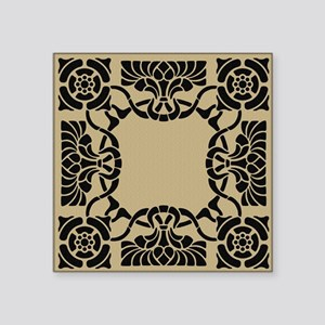 "Art Nouveau Pillow Square Sticker 3"" x 3"""
