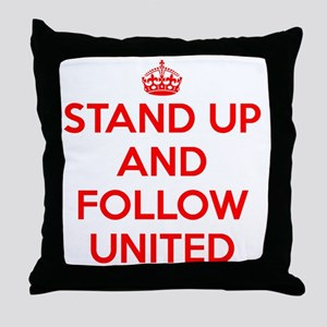 Stand UP and Follow United (Red/White Throw Pillow