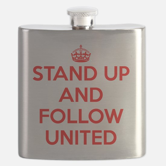 Stand UP and Follow United (Red/White) Flask