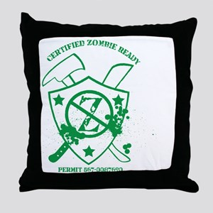 Zombie Ready Certification Throw Pillow