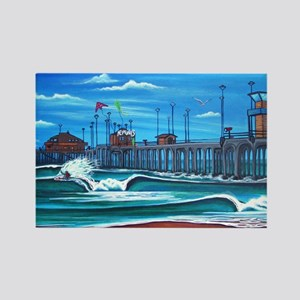 Huntington Beach Pier CIrca 1983 Rectangle Magnet