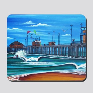 Huntington Beach Pier CIrca 1983 Mousepad