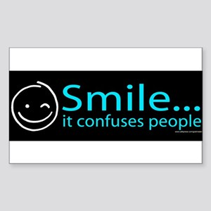 Smile (Blue) Sticker