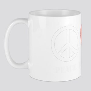 Peace, Love, and Geocaching Mug