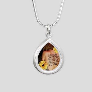 broken by battle Silver Teardrop Necklace
