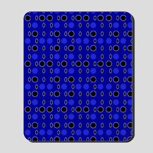 Blue Black Comeback Designer Mousepad