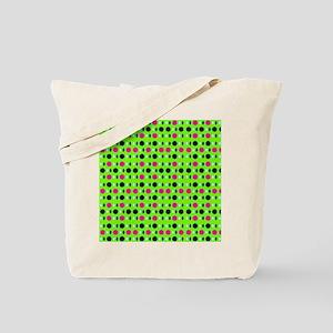 Green Pink Perception Designer Tote Bag