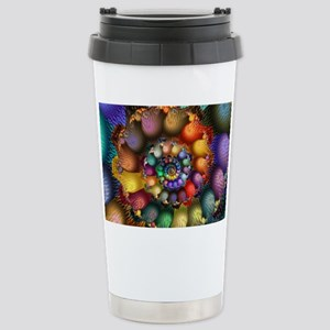 Textured Spiral for Car Stainless Steel Travel Mug
