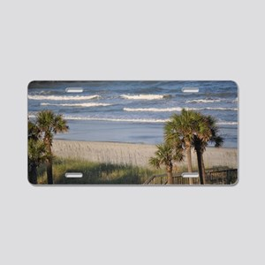 Beach Time Aluminum License Plate