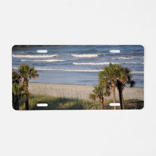 Beach Time Aluminum License Plate