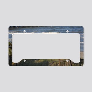 Beach Time License Plate Holder