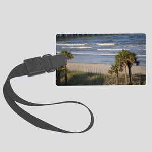 Beach Time Large Luggage Tag