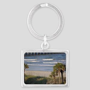 Beach Time Landscape Keychain