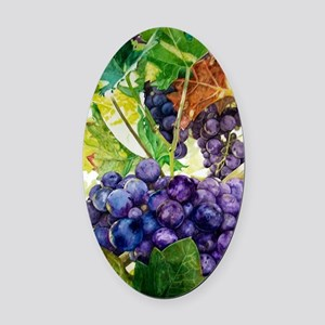 Napa Harvest Oval Car Magnet