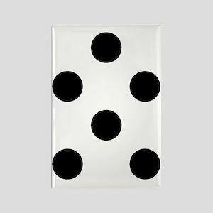 Black White Chauncys Polka Dots D Rectangle Magnet