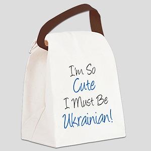 Im So Cute Ukrainian Canvas Lunch Bag