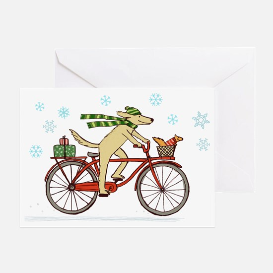 dogsquirrelholidayCP Greeting Card