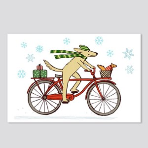 dogsquirrelholidayCP Postcards (Package of 8)